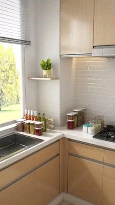 Diy Kitchen Storage, Home Decor Kitchen, Kitchen Organization, Kitchen Interior, Home Kitchens, Organization Ideas, Home Decor Furniture, Kitchen Furniture, Space Saving Furniture