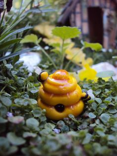 Hey, I found this really awesome Etsy listing at https://www.etsy.com/listing/156324815/fairy-garden-miniature-beehive-honey-bee