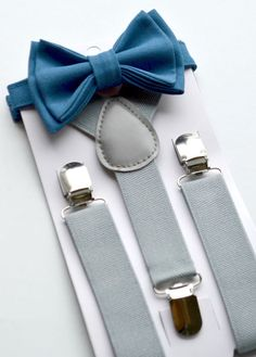 Hey, I found this really awesome Etsy listing at https://www.etsy.com/listing/243043244/navy-bow-tie-grey-suspenders-suspenders