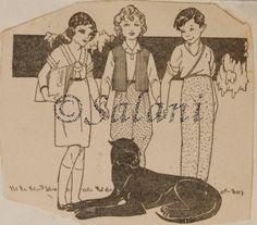 Ill. Manon Iesssel, Le avventurose vacanze del signor Tito, 1940, Salani, Biblioteca dei miei Raggazi