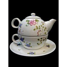 Tea For One Taza Tetera Plato Y Cucharita De Porcelana - $ 560,00 en Mercado Libre