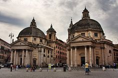 Santa Maria in Monsanto y Santa Maria dei Miracoli - 1662-1667, Carlo Rainaldi, Gian Lorenzo Bernini y Carlo Fontana