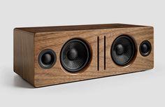 Audioengine-B2-Bluetooth-Lautsprecher-Holz-Gehäuse-Walnuss