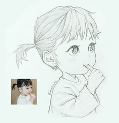 This Illustrator sketches people as anime characters and the result is impressive ⋆ Anime . - This Illustrator sketches people as anime characters and the result is impressive ⋆ Anime & Manga - Cartoon Sketches, Anime Drawings Sketches, Cool Art Drawings, Anime Sketch, Manga Drawing, Manga Art, Anime Art, Drawing Pictures, Drawing Ideas