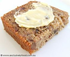 This moist banana loaf contains chunks of date and pecan nut. Serve slices of the loaf on their own or spread with butter. Serves about Loaf Recipes, Cake Recipes, Dessert Recipes, Desserts, Ginger Chocolate, Date Cake, Muffin Bread, Pecan Nuts, Quick Bread