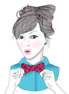 Keiko Lynn by BeckiBoos #fashion illustration #fashion art #illustration