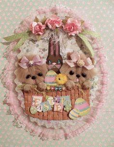 Yorkie dog Easter Egg Wall Hanging