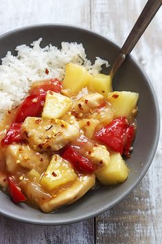 Saucy sweet and spicy Asian chicken made healthier at home in your slow cooker! | Creme de la Crumb