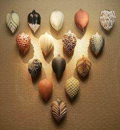 Alice Ballard's series of textured clay pods by SpicySugar