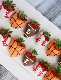Sports grad party strawberries