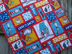 Dr Seuss Baby or Toddler Quilt with The Cat in the Hat MADE TO ORDER