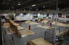indoor skateparks uk - Google Search Urban Park, Skate Park, Bmx, Building Design, Skateboarding, Backyard, Indoor, House Design, Parks