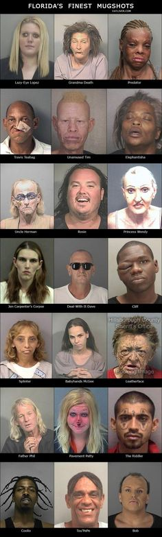 Florida's Finest Mugshots - Seriously, For Real?