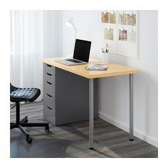 LINNMON / ALEX テーブル - バーチ/グレー - IKEA