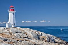 Faro de Peggy's Point en Nueva Escocia Canadá