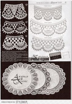 Crochet Edgings Crochet edging for a fabric cloth circle doily. Crochet Boarders, Crochet Edging Patterns, Crochet Lace Edging, Crochet Motifs, Tatting Patterns, Crochet Diagram, Doily Patterns, Filet Crochet, Crochet Designs