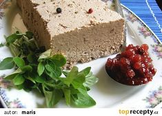 Paštika z kuřecích jater recept - TopRecepty.cz Slovak Recipes, Czech Recipes, Mexican Food Recipes, How To Make Cheese, Finger Foods, Banana Bread, Food And Drink, Appetizers, Cooking Recipes
