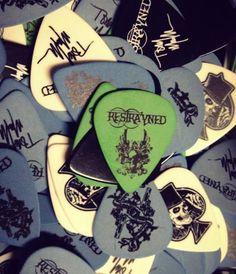 Restrayned custom guitar picks from ClaytonCustom.com