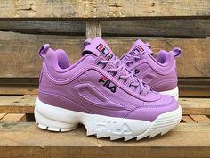 fila shoe Purple Foreign trade original American a - shoetrend Cute Sneakers, Shoes Sneakers, Sneakers Fashion, Fashion Shoes, Basket Style, Kawaii Shoes, Vetement Fashion, Aesthetic Shoes, Fresh Shoes