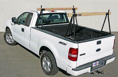 Hawaiian Sawhorse Truck Rack mounted on a white pickup truck