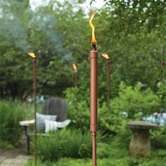 Make your own tikki torches using copper pipe and a few other essentials that you will find at your local Builders Warehouse. Push your torc...