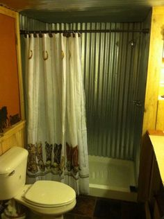 A Functional Barn Bathroom The Shower Basin Is A Galvanized Steel Tub Converted With