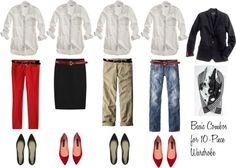 """10 - Piece Wardrobe - White Shirt"" by bluehydrangea ❤ liked on Polyvore"