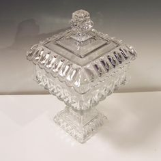 Elegant Westmoreland Clear Wedding Bowl Candy Box and Lid from ruthsredemptions on Ruby Lane