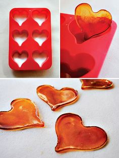 Cool idea - sugar candy hearts in the oven http://www.hostessblog.com/2012/02/valentines-day-treat-cupids-creme-brulee/