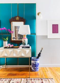 Did someone say color? A shock of cobalt blue is enough to make anyone smile.