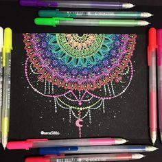 #ArtistPromo: @sana5886 Another gelly roll mandala : #art#mandala#drawing#doodle#flowers#gellyrollpens#moon#light#shades#colours#henna#design#pens#sakura#instaart#instaartist#instadrawing#passion#love#instaflower#rose#glitter#london#flowers#like