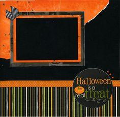12x12 Premade Scrapbook Page Halloween is by SusansScrapbookShack, $8.95