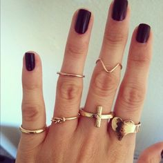 Lots of rings heart, cross, infinity, ring