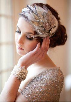 Beautiful headpiece - #gatsby #wedding.