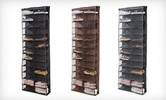 Groupon - $19 for a 26-Pocket Over-the-Door Shoe Organizer in Black, Brown, or Gray ($50 List Price) in Online Deal. Groupon deal price: $19.00