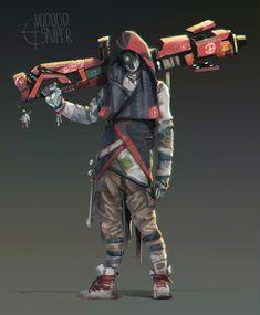 Intergalactic Bounty Hunters, Nico Lee Lazarus on ArtStation at https://www.artstation.com/artwork/gQq4Q