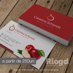 RioGD - Cartão de Visita Nutrição - Maçã