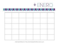 Calendarios Personalizables para imprimir y organizar tu mes: Calendario de Enero