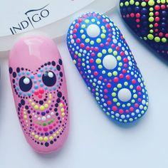 Na prośbę! :D Sowa w przybliżeniu! ❤  Proszę!  #nail #nails #nailart #artnails #instanail #instanails #instagirl #nailswag #manicure #gelnails #paznokcie #pazurki #pazurkowo #paznokciekrakow #sowa #sweet #girl #woman #hybrydanails #hybrydowe #paznokciehybrydowe #hybridnails #dotsnail #dots #stylizacjapaznokci #inspiration #inspiracjepaznokciowe #pomyslynapaznokcie #emilovelove #kropeczkowelove Dot Nail Art, Polka Dot Nails, Nail Polish Art, Gorgeous Nails, Love Nails, Fun Nails, Pretty Nails, Mermaid Nails, Easy Nail Art