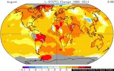 August 2014 was the hottest August ever recorded.
