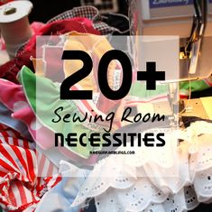 The 20+ MUST HAVE Sewing Room Necessities from RaeGunRamblings.com | Find the supplies at your local Jo-Ann or online at Joann.com