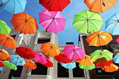 canopy of umbrellas, spotted in Portugal