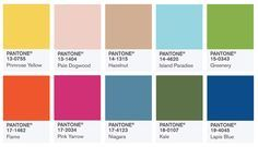 Los 10 colores principales de Pantone para la primavera de 2017