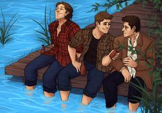 Team Free Will with a side of Destiel. Supernatural Party, Supernatural Drawings, Otp, Wayward Daughters, Destiel Fanart, Dean And Castiel, Winchester Boys, My Little Baby, Superwholock