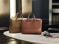 Tod's / Tote / Brown / Mustard / Leather / Suede