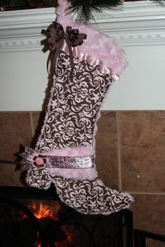 cowgirl boot stocking @Kelly Hankins thought about you when I saw this!