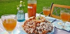 The first of May, in Finland its called Vappu. The traditional drink is called sima and you usually eat tippaleipä (funnel cake!) with sima. Sima Recipe, Finnish Recipes, Decadent Cakes, May Days, Great British Bake Off, Beltane, Fritters, Alcoholic Drinks, Food And Drink