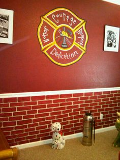 Firefighter Crafts On Pinterest Firefighters Firefighter Decor And Fire Tr