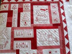 darling redwork Christmas quilt!  :) by catrulz
