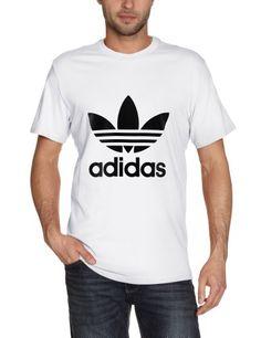 31d744e85ffbd adidas T - Camiseta de deporte para hombre Tiempo libre y sportwear   Camiseta Trébol en color contraste en la delantera Tejido con tratamiento  especial para ...